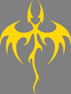 Наклейка дракона на машине