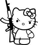 Hello Kitty AK47