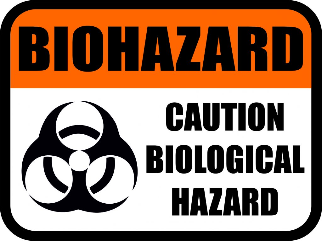 Biohazard. Caution biological hazard